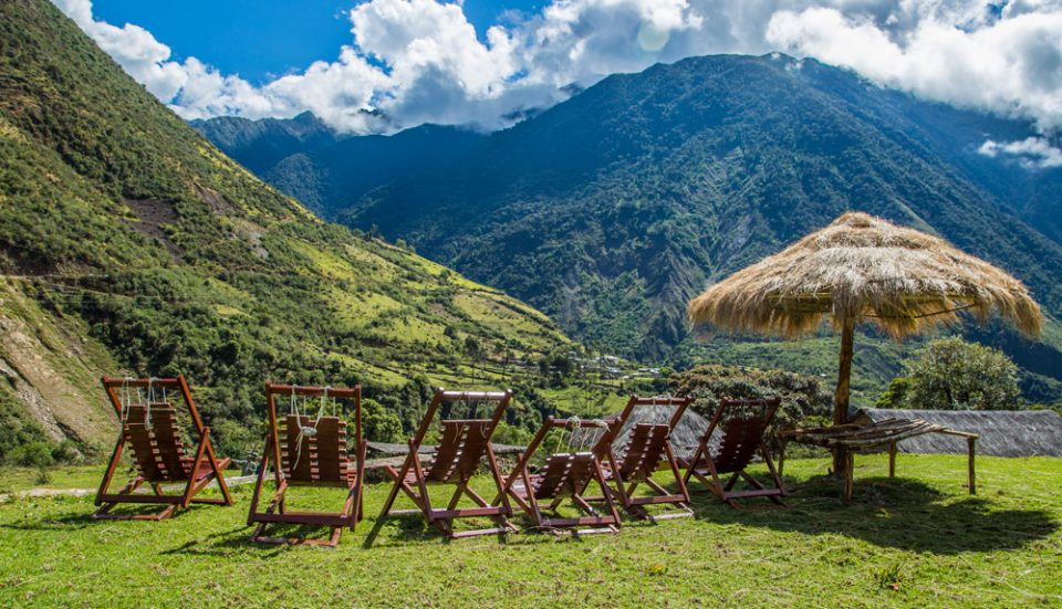 The best seat in the house--a perfect spot to lounge at Colpa Lodge