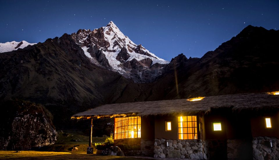 Marvel at the constellations over the mountain from Wayra Lodge