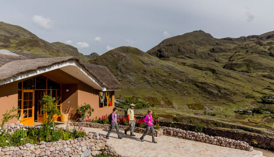 Heading out of the Huacahuasi Lodge for a day of trekking and exploration in Lares