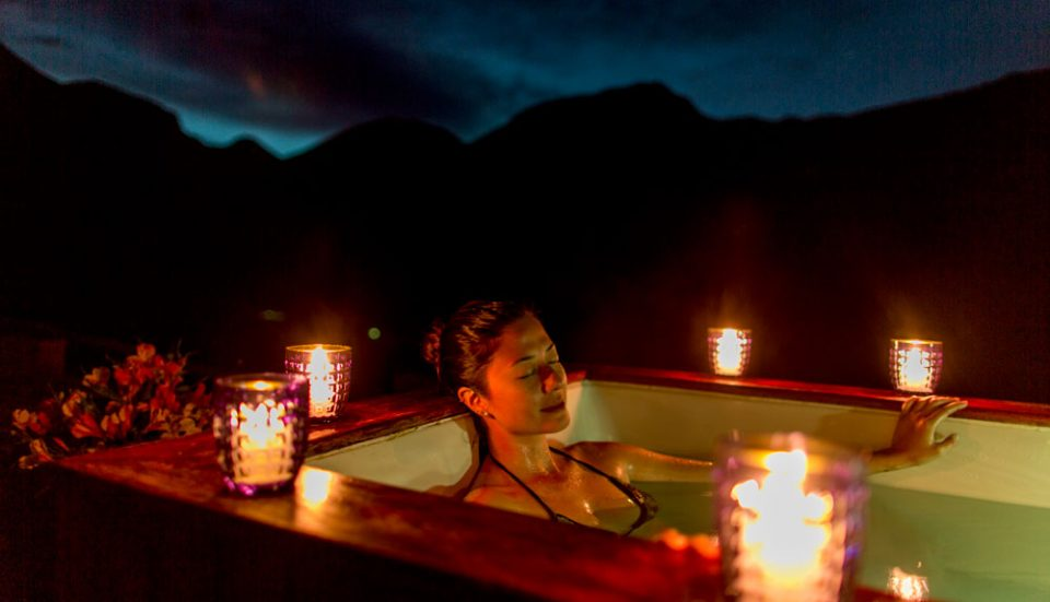 Rejuvenation of the spirit -- private outdoor mountain jacuzzi at Huacahuasi