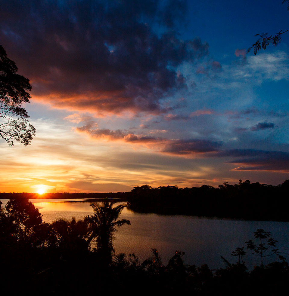image of best peruvian amazon sunset